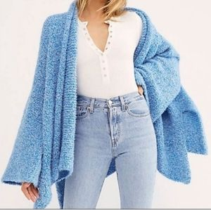 NWT Free People BFF Cardigan in Blue size small